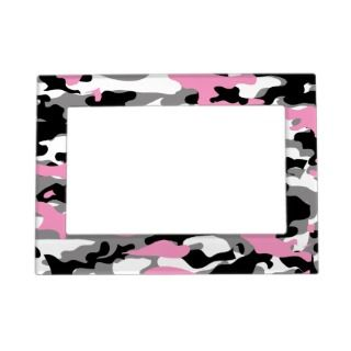 Pink Camo Frame Magnets