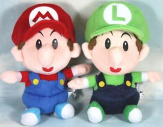 Lot 2 Mario Bros Mario Luigi BB 8Plush Toy Cute