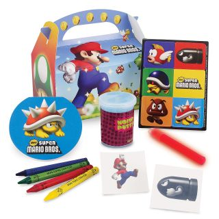 Super Mario Bros Party Favor Box Kit Birthday Nintendo