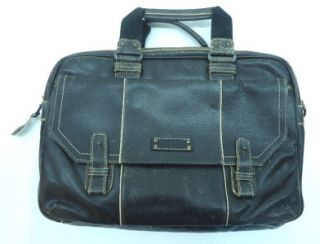 Marc New York by Andrew Marc Mens Black Retrocalf Top Zip Briefcase
