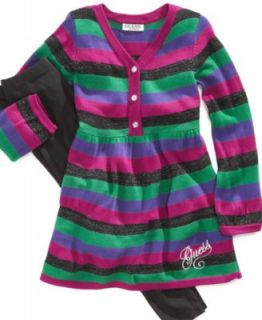 GUESS Kids Set, Little Girl Striped Sweater Dress and Legging Set