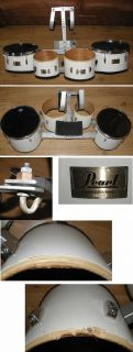 Pearl Competitor Series Marching Band Quad Drums with Carrier NR Parts