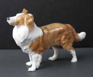 meissen germany porcelain collie dog figurine statue meissen mark