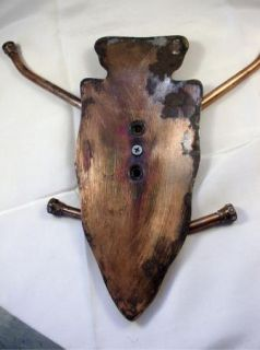 Old Folk Art Hand Fabricated Arrowhead Hat Coat Rack
