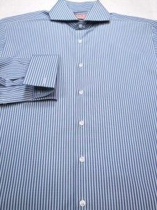 Thomas Pink Slim Fit London Stripe French Cuffs Shirt 15 1 2 34 35