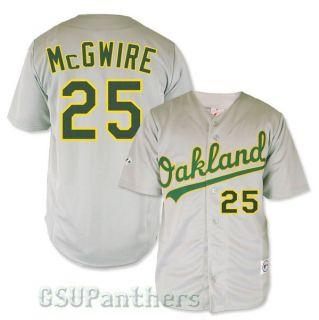 Mark McGwire Oakland Athletics As Grey Road Replica Sewn Jersey Size