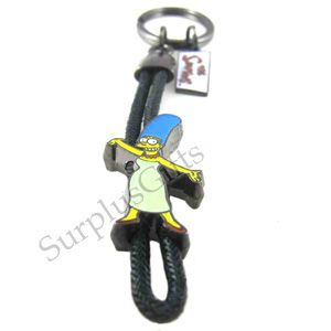The Simpsons Marge Simpson Rope Key Ring