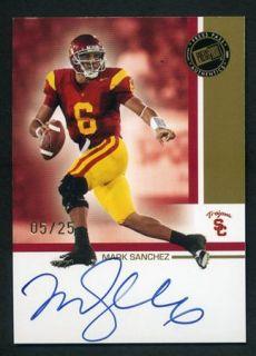 2009 Press Pass Authentics Mark Sanchez Rc Rookie Auto /25 USC Trojans