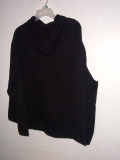 New Tweety Black Polar Fleece Hoodie Size XL by Warner Bros