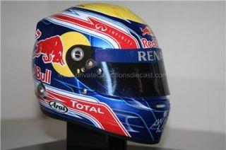Mark Webber 2011 Red Bull 1/2 scale helmet