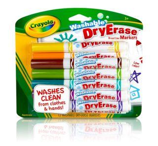 Count Crayola Hallmark Assorted Washable Dry Erase Markers New