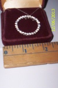 Belden Jewelers Diamond Circle 10K White Gold Necklace Chain 10K Aaj