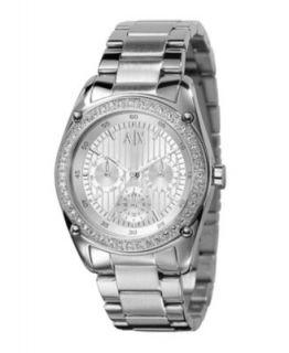 Armani Exchange Watch, Womens Stainless Steel Bracelet 40mm