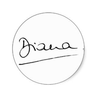 No.34 The signature of Princess Diana. Sticker