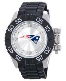 Game Time Watch, Mens New England Patriots Black Polyurethane Strap
