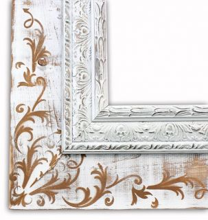Marseilles White Picture Frame Solid Wood