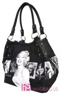 Licensed Marilyn Monroe Signature Product Bucket Hobo Purse Bag