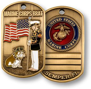 US Marine Corps Brat Dog Tag Military Brat Dog Tag New