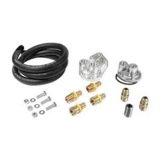 Mr Gasket Oil Filter Single Remote Mount V8 V6 Kit 7682