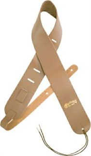 MARTIN® 2 1/2 DELUXE GENUINE LEATHER GUITAR STRAP (NATURAL) 18AMS2N