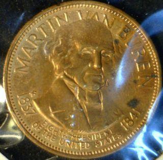 Martin Van Buren Mint Commemorative Bronze Medal Token Coin