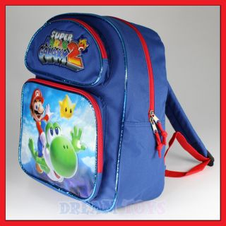 Super Mario Bros Flying Yoshi 14 Backpack Bag Boys