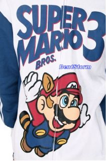 COOL SUPER MARIO BROS. 3 NINTENDO Adult hoodie hoody hooded
