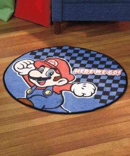 Super Mario Bros Officially Licensed Character Rug Playroom Den