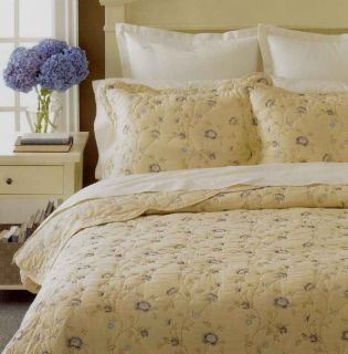 Martha Stewart Vineyard Flower Reversible Full Queen Quilt New