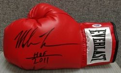 Mike Tyson HOF 2011 Signed Autographed New Everlast Boxing Glove PSA