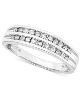 Diamond Ring, 14k White Gold Diamond Band (1/4 ct. t.w.)