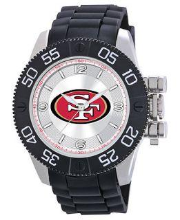 Game Time Watch, Mens San Franciso 49ers Black Polyurethane Strap