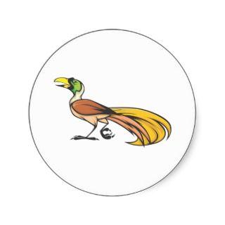Angry Bird of Paradise Round Sicker