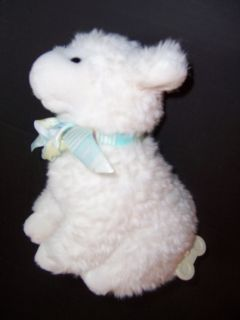 Plush Musical Baby Gund Lamb Sheep Soft Stuffed Wind Up Toy Ribbon