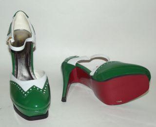White Patent High Heel Pump Mary Jane Oxford Women Shoes Sz 7 5