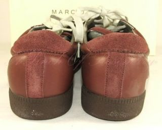 Marc Jacobs Mens M1930 Suede Leather Sneakers Shoes Burgundy Wine 11