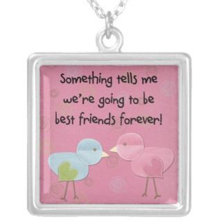 little birdies tells me best friends forever pendants