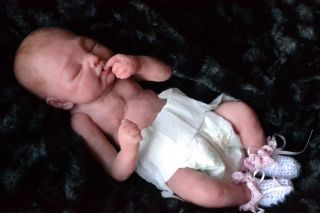 Silicone Preemie Baby Girl Doll Mary Beth by Rita Rich Arnold
