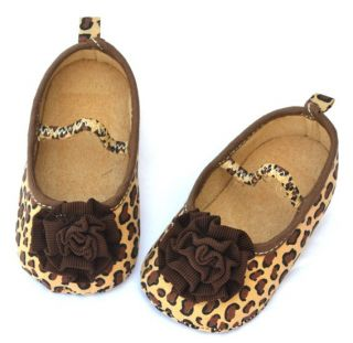 Brown Mary Jane Toddler Baby Girl Shoes Size 1 2 3