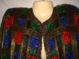 Womens Marshall Fields Silk Sequined Jacket PM