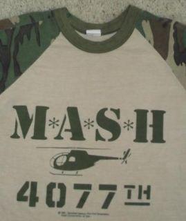 Vintage 80s 1981 Mash TV Show 4077th Jersey Camo Thin T Shirt Sz M