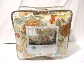 Martha Stewart Elizabetha Neutral Multi Queen Comforter Set