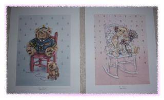 teddy bear nursery prints by martha smith hayes 1987