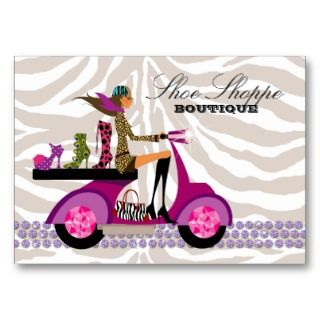 Jewelry Zebra Purple Peacock Business Card Templates