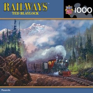Masterpieces Ted Blaylock Placerville Train Jigsaw Puzzle 1000 PC