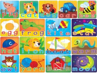 Masterpieces Spelling Learning Games for Kids Educational Puzzle 60 PC