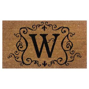 Traditional Coir Door Mat Insert with w Monogram
