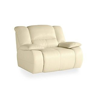 Franco Leather Power Recliner Chair, 51W x 43D x 39H