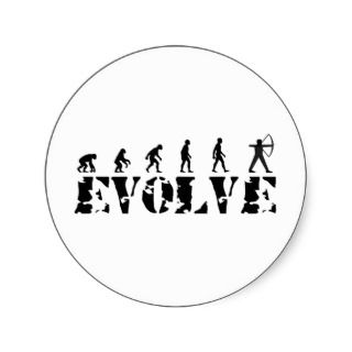 Archery Bow Arrow Evolution Darwin Theory Stickers