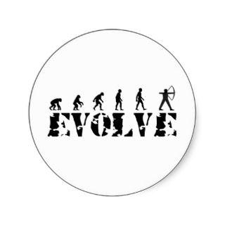 Archery Bow Arrow Evolution Darwin Theory Stickers